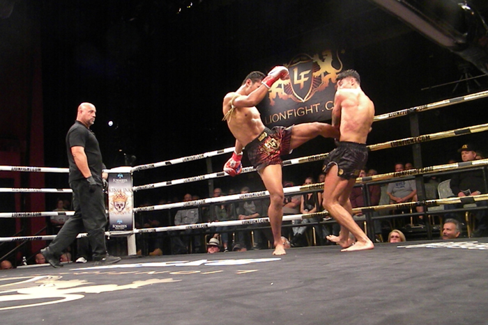 Jo Nattawut and Hasan Toy at Lion Fight 33