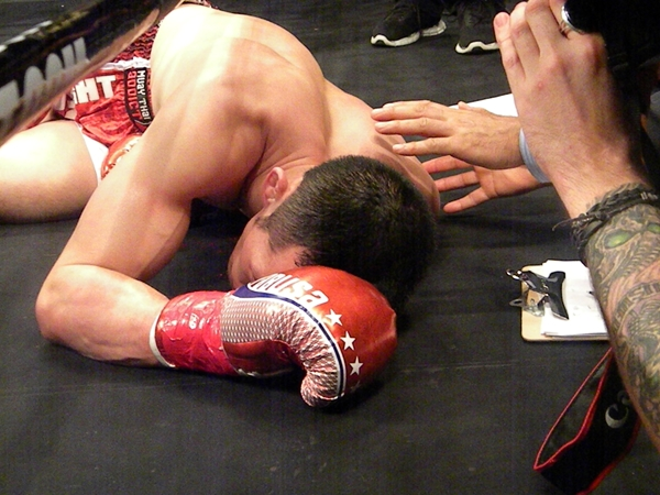 Felled Jacob Hebeisen at Lion Fight 36
