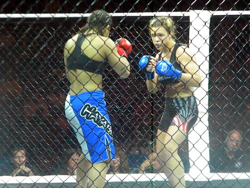 Fernanda Araujo and Dar'ya Hamilton at Reality Fighting on June 8
