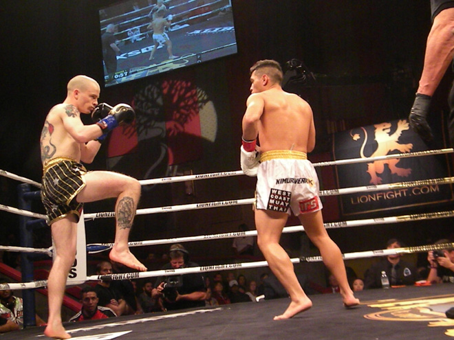 Nofer and Saravia at Lion Fight 26