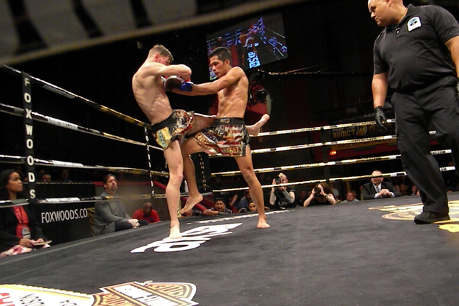 Ognjen Topic and Dechsakda Sitsongpeenong at Lion Fight 29