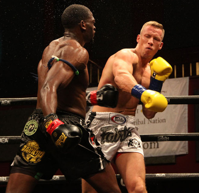 Steve Walker and Kristaps Zile at Lion Fight 46
