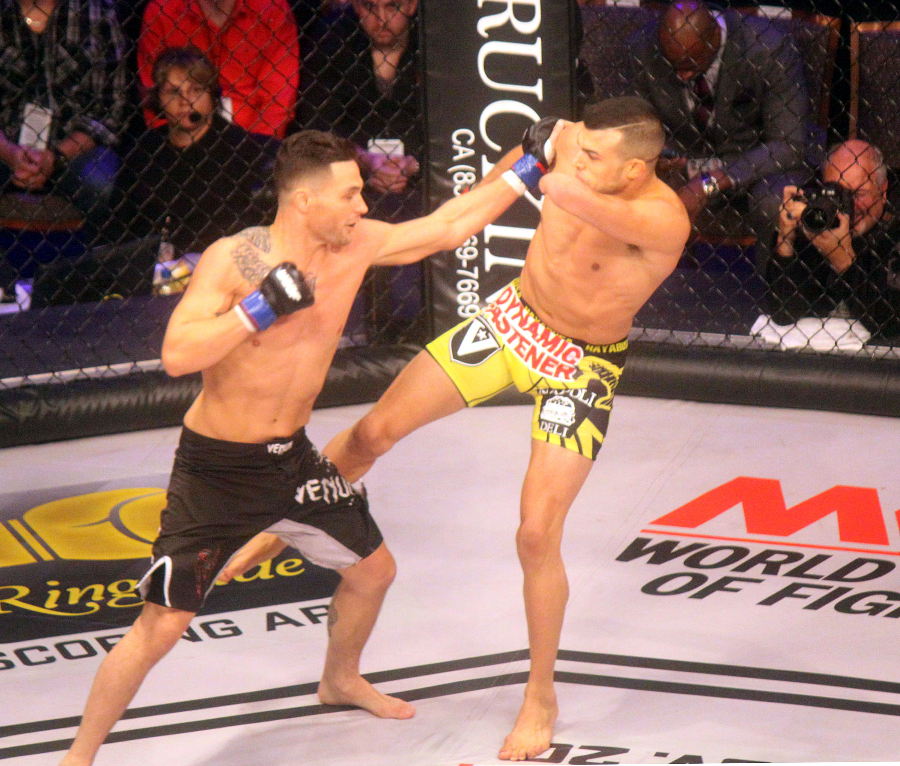 Tom Marcellino, left and Nick Newell at WSOF 24.