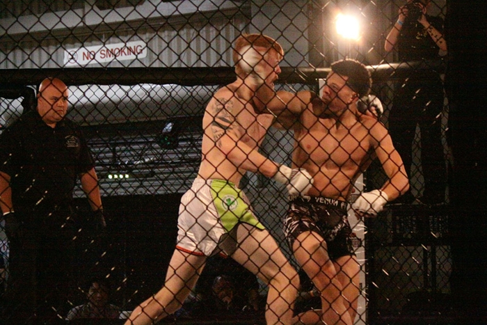 MMA fighters Stephen Pinard vs Mike Kimbel
