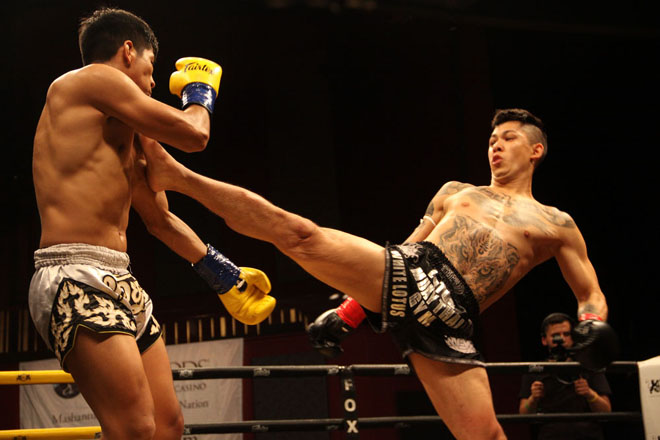 Carlos Lopez and Marcos Vasquez at Lion Fight 46