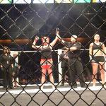 Jessy Miele gets her arm raised after defeating Jamie Driver on Jan. 2 at Reality Fighting in the Mohegan Sun Arena.